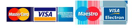 La Chinita Lifan - MasterCard, Visa, American Express, Maestro y Visa Electron - Logos de Tarjetas